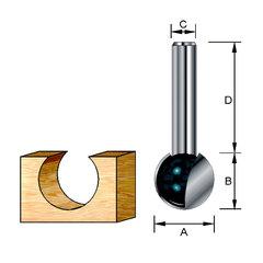Шаровидная фреза 9,5*32*9,5*8 мм