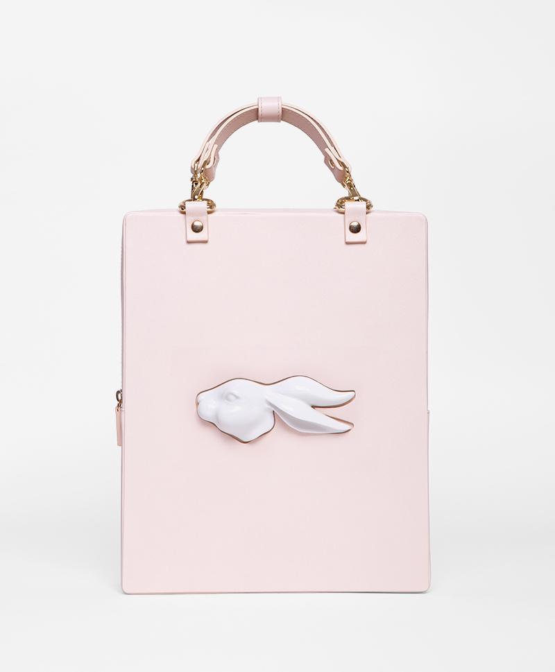 Сумка-рюкзак из кожи Rabbit Head Nude