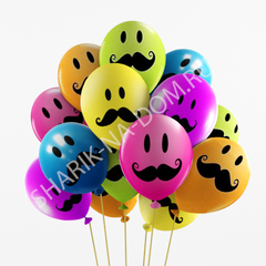 """Воздушные шары """"Усы"""""""