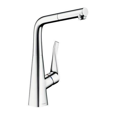 Смеситель для кухни с выдвижным душем Hansgrohe 14821000 Metris