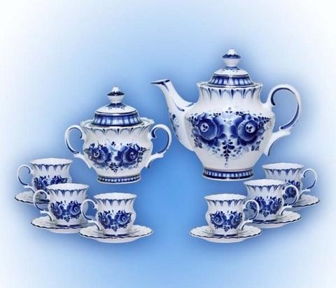 Сервиз чайный Гжель