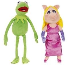 Лягушонок Кермит и Мисс Пигги мягкие игрушки из Маппет Шоу