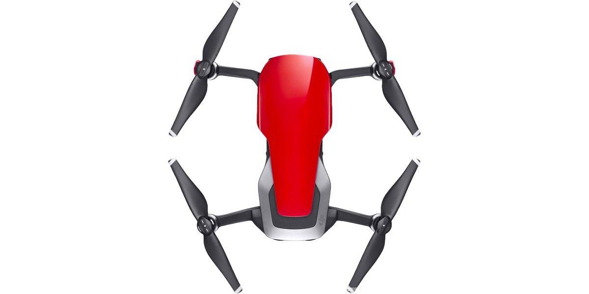 Квадрокоптер DJI MAVIC AIR Fly More Combo (EU) Flame Red, красный вид сверху