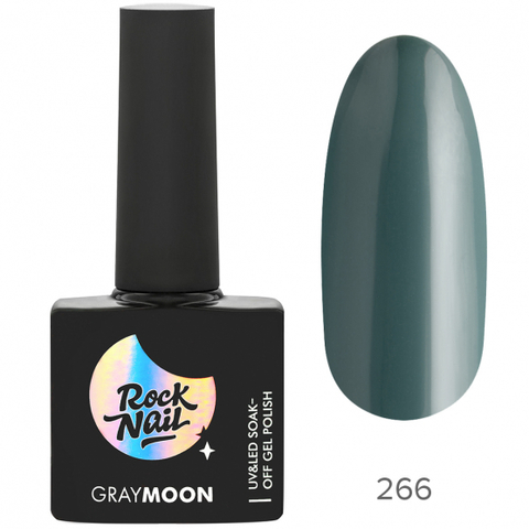 Гель-лак RockNail Gray Moon 266 Wet Forest