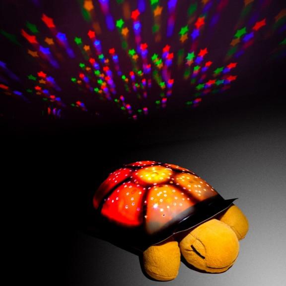"""Ночник-проектор """"Музыкальная черепаха"""", бежевая от 590 руб"""