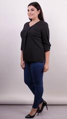 Леона. Оригинальная блуза плюс сайз. Черный.