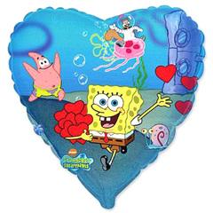 Шар Сердце Губка Боб