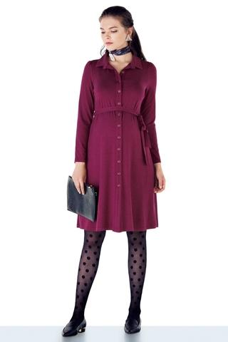 Платье для беременных 11055 бордовый