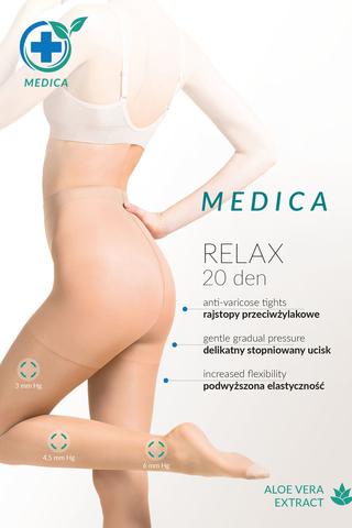 Телесные колготки с антицеллюлитным действием и с экстрактом Алоэ Вера Medica Relax 20 den фото