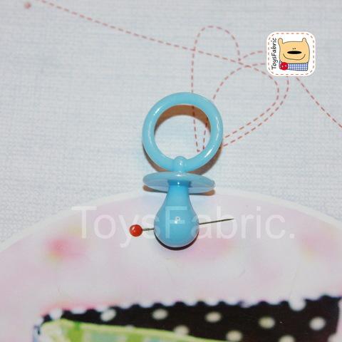Соска пустышка пластиковая (голубая L) М150