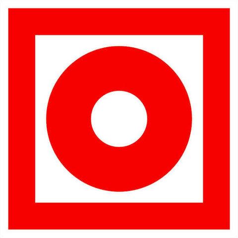 F10 знак пожарной безопасности / знак кнопка включения установок систем пожарной автоматики
