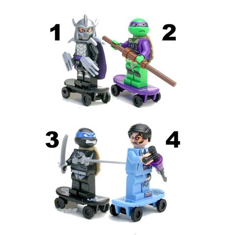 Minifigures Mutant Ninjago Ninja Turtles 2 Blocks Building