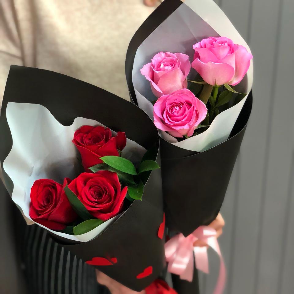 Букет-комплимент из 3х роз