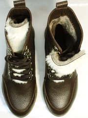 Ботинки с мехом внутри женские Studio27 576c Broun.