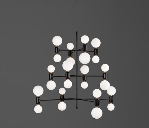 replica PARACHILNA Aballs chandelier 12 lights