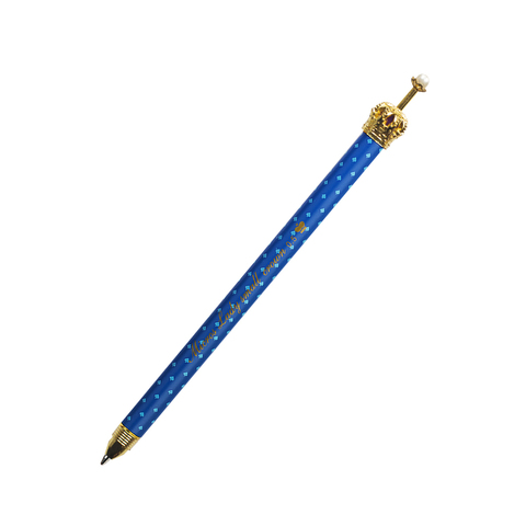 Ручка черная гелевая Gold Crown blue