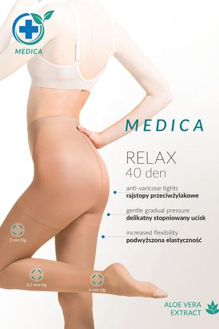 Телесные колготки с антицеллюлитным действием и с экстрактом Алоэ Вера Medica Relax 40 den