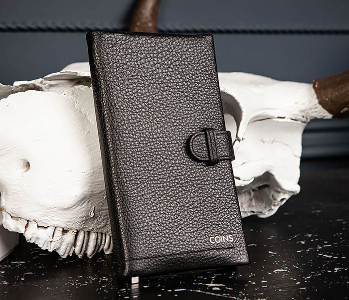 WL335-1 Мужское портмоне клатч из натуральной кожи «Hanz» фото 02