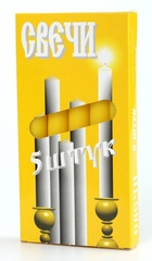 Набор желтых свеч (5 шт)