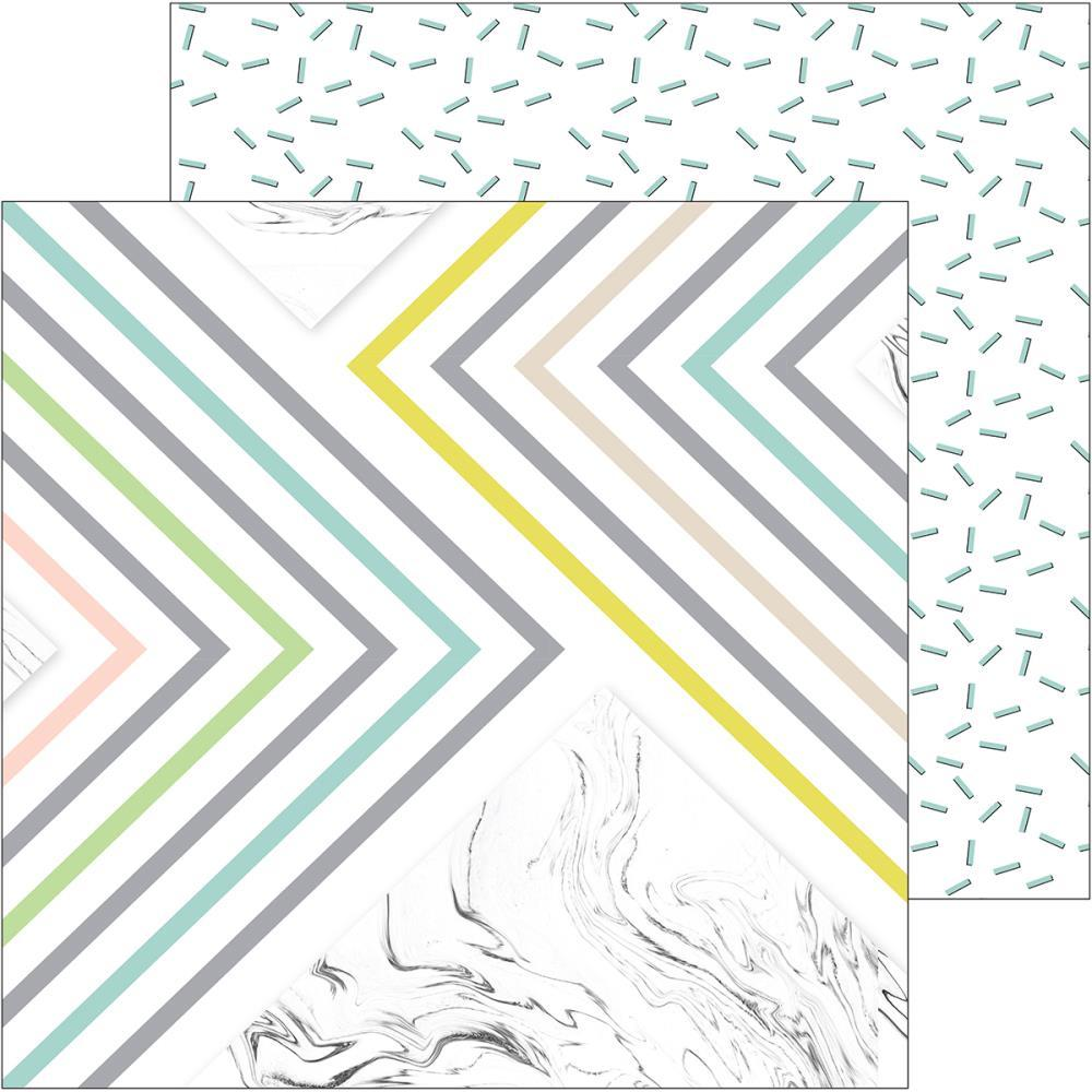 Лист двусторонней бумаги Live More Double-Sided Cardstock от Pinkfresh Studio 30х30см