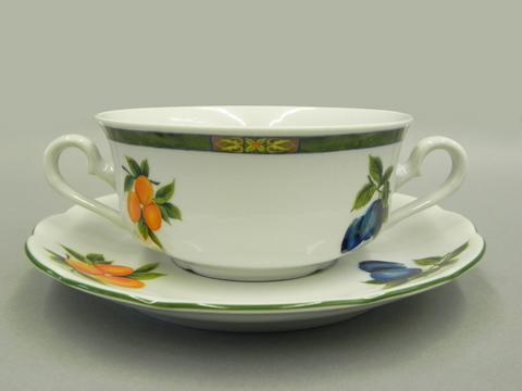Набор чашек для супа с блюдцами 2 ручки 0,35 л 6 штук Мэри-Энн Leander