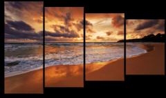 "Модульная картина ""Вечерний пляж"""