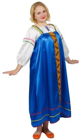 Русский народный сарафан синий
