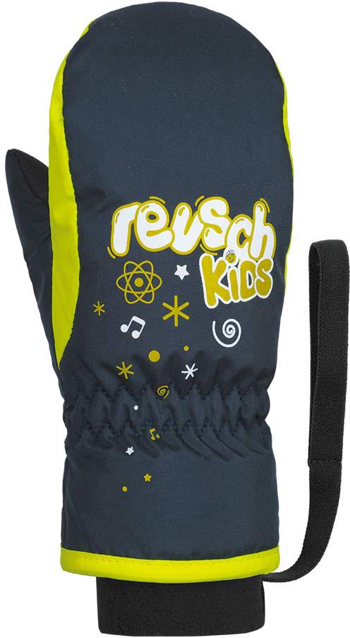 Детские варежки и перчатки Варежки детские Reusch Kids Mitten 955 dress blue/safety yellow 48-85-405_02.jpg