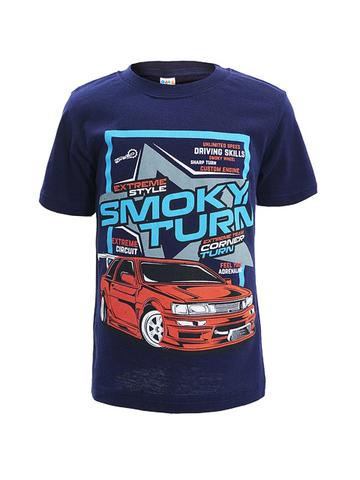D002-37 футболка для мальчиков, тем. синяя