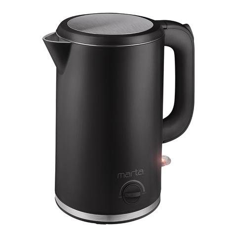 Чайник металлический MARTA MT-4557 черный жемчуг