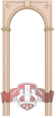 Арка межкомнатная шпонированная Владимирская фабрика дверей, Классика, цвет беленый дуб