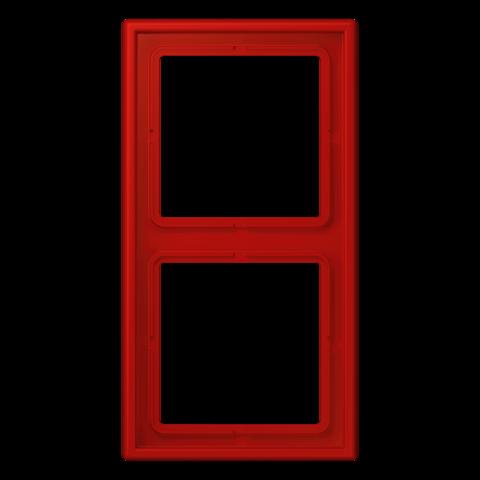 Рамка на 2 поста. Цвет Terre sienne brique. JUNG Les Couleurs® Le Corbusier. LC98232090
