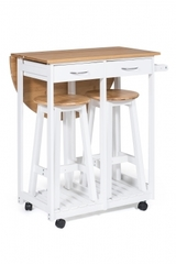 Стол кухонный  с табуретом (mod. JW3-2065А) — натуральный