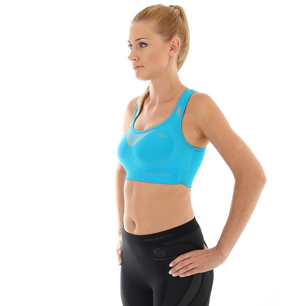 Женский спортивный топ для фитнеса Brubeck Thermo (CR10070) голубой