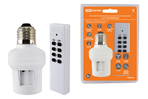 Комплект для беспроводного управления освещением ПУ3-П1.1-Е27 (1 приемник)