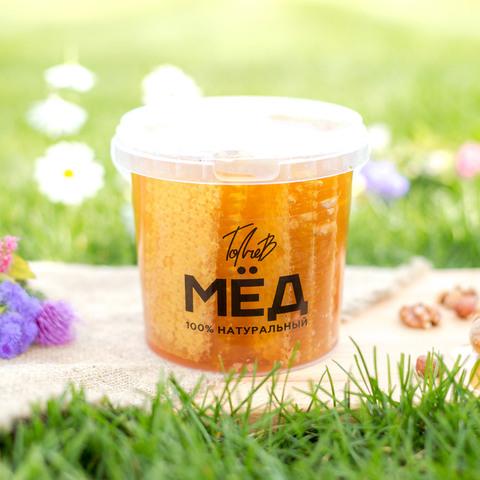 Мёд в сотах - ведерко 1 литр