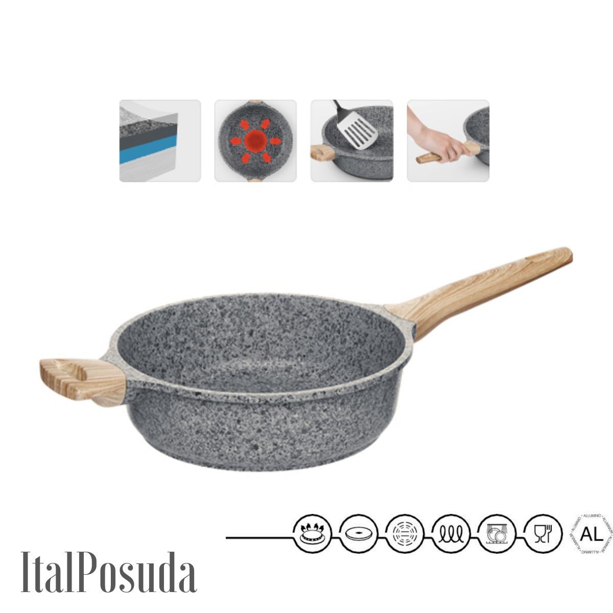 Глубокая сковорода NADOBA MINERALICA индукционная , 24 см