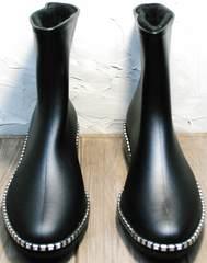 Стильные резиновые сапоги женские утепленные Hello Rain Story 1019 Black.
