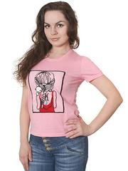 8501-4 футболка женская, светло-розовая