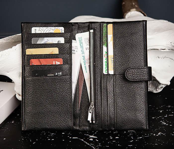 WL335-1 Мужское портмоне клатч из натуральной кожи «Hanz» фото 07