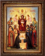 Похвала Пресвятой Богородицы Киевская. Икона на холсте.