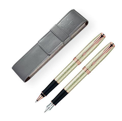 Набор с чехлом: Перьевая и Ручка роллер Parker Sonnet T535 VERY PREMIUM Feminine123