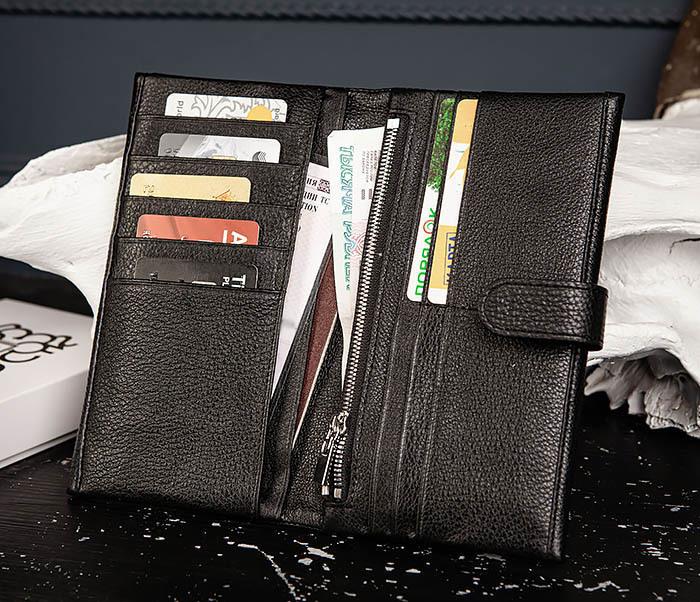 WL335-1 Мужское портмоне клатч из натуральной кожи «Hanz» фото 08