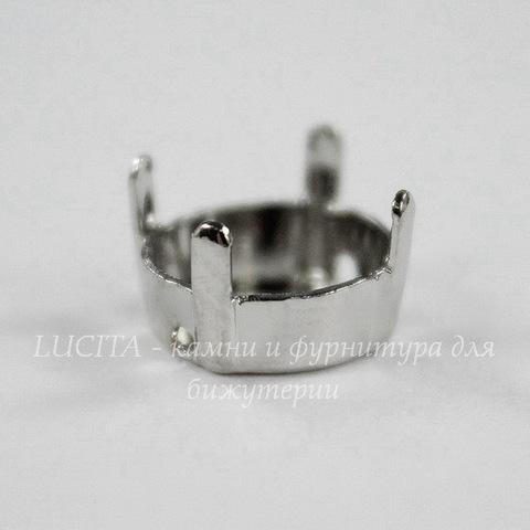 1122/S Сеттинг - основа Сваровски для страза Rivoli 10 мм (ss 47)(цвет - античное серебро)