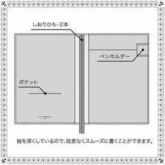 Тетрадь Apica C.D. Notebook Two in One (темно-синяя, формат B6)