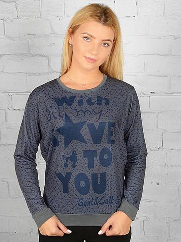 K033-14 футболка женская дл. рукав, темно-серая