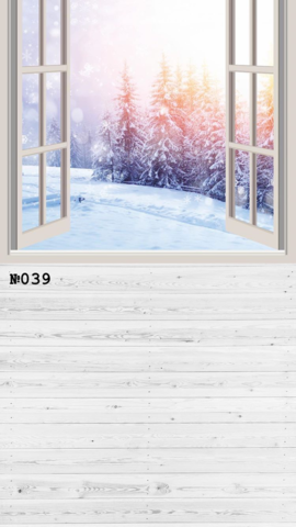 Фотофон виниловый «Зимний лес» №039