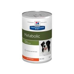 Hill's Prescription Diet Metabolic  влажный диетический корм для собак способствует снижению и контролю веса, с курицей 370 г