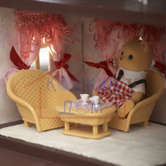 Кукольный домик со светом с полным комплектом мебели Happy family 012-01