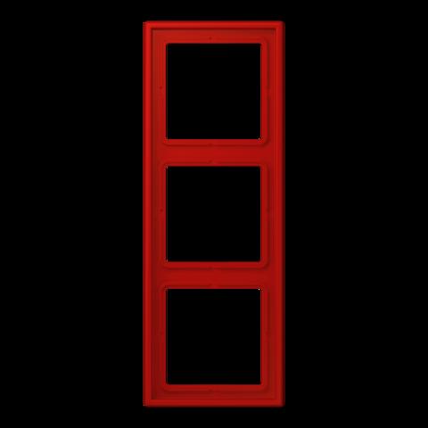 Рамка на 3 поста. Цвет Terre sienne brique. JUNG Les Couleurs® Le Corbusier. LC98332090